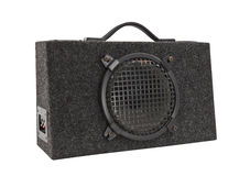 Old Car Audio Boom Box Woofer Isolated Royalty Free Stock Photography