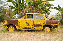 The old car beautiful yellow Royalty Free Stock Photos