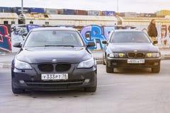 Old-car BMW 5-series e60 Stock Photos
