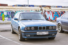 Old-car BMW 5-series e34 Stock Photos