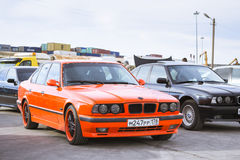 Old-car BMW 5-series e34 Stock Photo