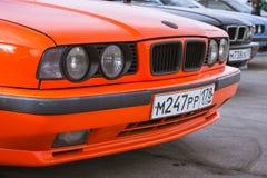 Old-car BMW 5-series e34 Stock Photos