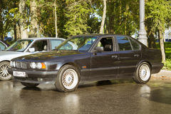 Old-car BMW 5-series e34 Royalty Free Stock Photo