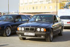 Old-car BMW 5-series e34 Royalty Free Stock Photography