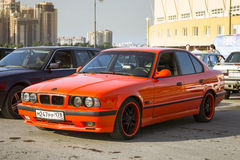 Old-car BMW 5-series e34 Royalty Free Stock Photos