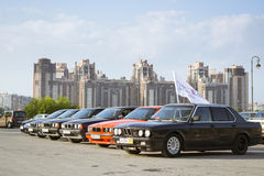 Old-car BMW 5-series e34 Royalty Free Stock Image