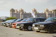 Old-car BMW 5-series e34 Royalty Free Stock Photo