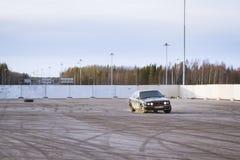 Old-car BMW 5-series e34 to drift Stock Photos
