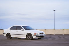 Old-car BMW 5-series e39 to drift Stock Image
