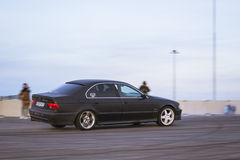 Old-car BMW 5-series e39 to drift Stock Photo