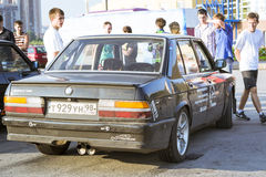 Old-car BMW 3-series m3. SAINT-PETERSBURG, RUSSIA - AUGUST 3, 2013: Old-car BMW 3-series m3 at the meeting, fans of the Bavarian automaker, Krestovsky island, St Stock Photo