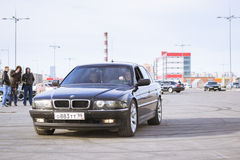 Old-car BMW 7-series Royalty Free Stock Photo