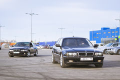 Old-car BMW 7-series Royalty Free Stock Photography