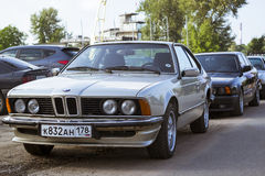 Old-car BMW 6-series Stock Photo