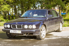 Old-car BMW 7-series Stock Photography