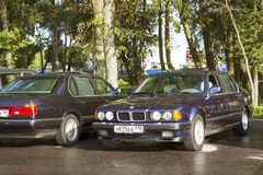 Old-car BMW 7-series Royalty Free Stock Photos