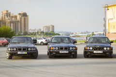 Old-car BMW 7-series Royalty Free Stock Images