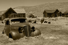Old Car in Bodie Ghost Town, Bodie State Historic Site, California Stock Photography