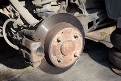 Old car brakes Royalty Free Stock Photography