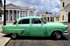 Old car in Cienfuegos royalty free stock photos