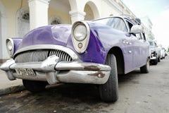Old car in Cienfuegos, Cuba Stock Photos