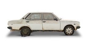 Old Car (Clipping Path Included) Royalty Free Stock Image