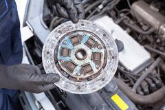 Old car clutch plate disc royalty free stock images