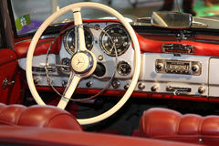 Old car cockpit Stock Photos