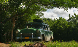 Old car of Cuba Stock Images