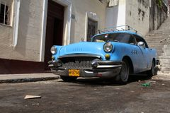 Old car in Cuba Stock Photography