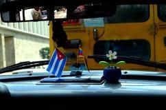 Old Car in Cuba. Inside of an old car in La Habana, Cuba royalty free stock image