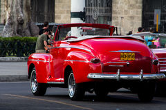 Old car in cuba streets Royalty Free Stock Image