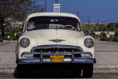 Old car in cuba streets Royalty Free Stock Images