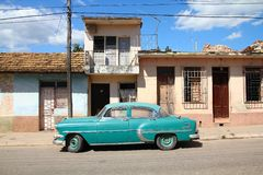 Old car in Cuba stock images