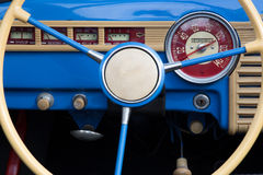 Old car dashboard Royalty Free Stock Image