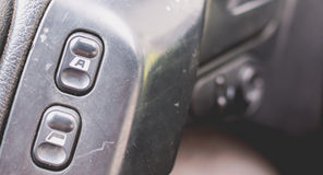 Old car dashboard of the 90s Royalty Free Stock Photo