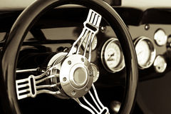 Old car dashboard Stock Image