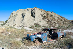 Old car in desert Royalty Free Stock Photography