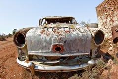 Old car in the desert Stock Photos