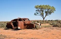 Old car in the desert Stock Image