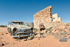 Old car in the desert Stock Photos