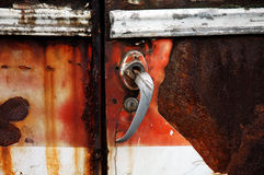 Old car door Royalty Free Stock Image