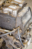 Old car engine. An old car engine detail close up Royalty Free Stock Image