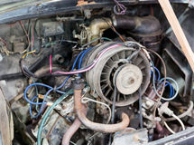 Old car engine Stock Photography