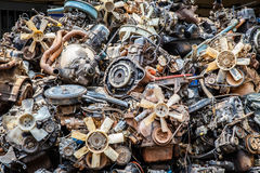 Old car engine part, Part of grunge and rusty machine Royalty Free Stock Photos