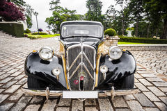 Old car. Frontal view Stock Photos