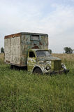 Old car. Gorky Automobile cargo van rust in the grass Stock Photography