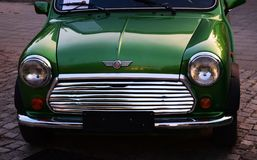 Old car. Green old car nIt returns us in old times.Travel in the past century Stock Photography