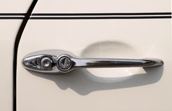 Old car handle Stock Photo