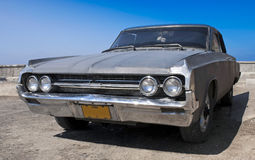 Old Car at Havana. Frontal view of an old American car at Havana Cuba Royalty Free Stock Photography
